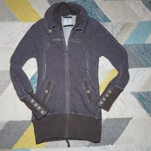 Free People Zip Up Sweater Sweatshirt Jacket